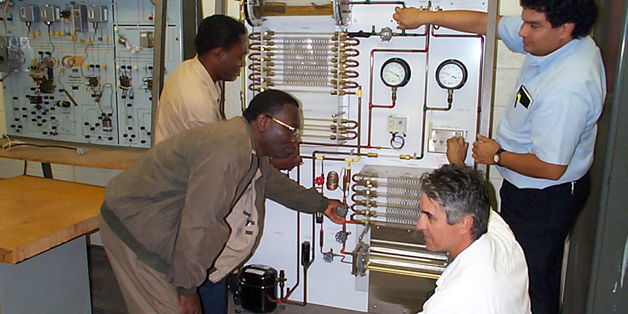 Lindsey-Hopkins-AC,Refrigerationand-Heating-Technology-Students-Working