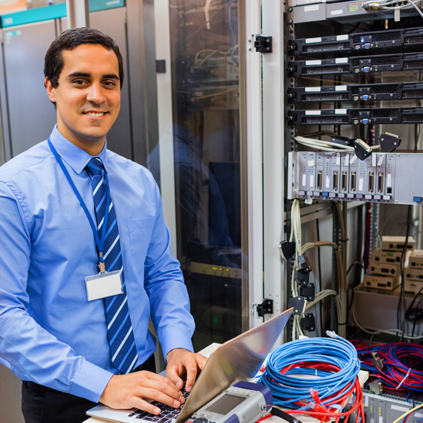 Computer Technician providing users with technical support for networking problems