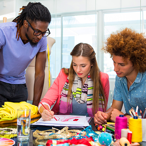 Work with other designers or team members to create a prototype design