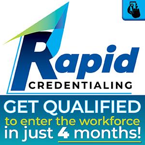 Rapid Credentialing Logo - Get Qualified